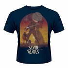 Star Wars - Sunset Poster T Shirt (Navy version) New & Official Licensed Merch