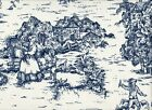 """2 French Country Toile Nautical Blue 96"""" Curtain Panels C..."""