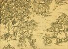 """84"""" French Country Toile Document Green Fabric Shower Cur..."""