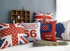 Vintage Union Jack Style Home Decor Throw Pillow Case Cushion Cover Square 18""