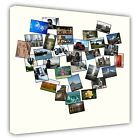 Premium Heart Photo Collage Canvas Personalised Print Your Photo