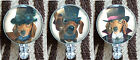 Badge Reel Retractable ID Name Card Holder Steampunk Dachshund Dogs Puppy Hats