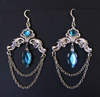 Gothic Victorian Earrings Renaissance Medieval Steampunk Silver Bridal Jewelry