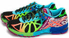 Asics GEL NOOSA TRI 9 Women's, Black/Neon Coral/Green, Running Shoes, T458N.9023