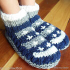 Nepalese Hand-Knitted 100% Woollen Warm Unisex Colorful Navy Socks Room Bed Shoe