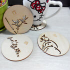 New Wood Coaster Carved Cup Drinks Holder Mat Tableware Placemat