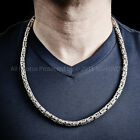 Byzantine Silver Bali Necklace - 6mm Wide x 24 inch ( other lengths available )