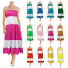 Ladies Womens Long Beach Summer Dress Casual Party Sexy Sleeveless Maxi Sundress