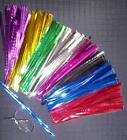 "METALLIC POP BAG/SWEET BAG TWIST TIES 4"" (10cm) in 8 SUPER COLOURS or RANDOM MIX"