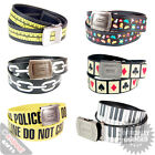 Cool Belts. Stylish Clothing Accessories Retro Gaming Piano Crime Tape Fun Gift