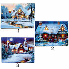Christmas Scene 40cm Free Standing LED Fibre Optic Light up Canvas 3 Designs