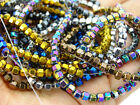 Natural Hematite Gemstone 18 Faceted Bicone Lantern Beads 16'' Metallic Colors