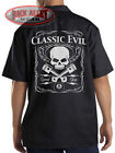 CLASSIC EVIL SPEED SHOP Mechanics Dickies Work Shirt ~ Skull & Pistons Eightball