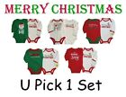 BABY BOYS GIRLS CHRISTMAS CREEPER BODYSUIT ROMPER HOLIDAY 1st CHILDRENS CLOTHES