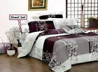 May 100% Cotton Bedding Set: 3pc/5pc Duvet Cover Set or Sheet Set Queen/King/CK image