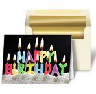 Greeting Card Lenticular 3D Candles Happy Birthday   , Item #GC-950#
