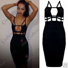 Womens Sleeveless Structured V Bralet Bodycon Couture Short Pink Gorgeous Dress