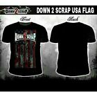 Down2Scrap Black MMA USA Patriotic T Shirt S M L mens men XL new cross biker