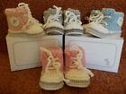 Luxury Cashmere Merino High Top baby booties - Hand knitted with gift box