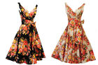 "New Rosa Rosa Vtg 1950s Floral""English Rose"" Rockabilly Summer Party Prom Dress"