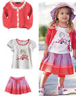 GIRLS 3 PIECE SET SKIRT, TOP & CARDIGAN SUMMER 12-18 MONTHS, 2-3,3-4,4-5 YEARS