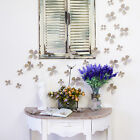 3D Taupe Flowers Wall Sticker Decal Home Interior Decoration
