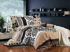Norway 3pc 100% Cotton Bedding Set:1 Duvet Cover, 2 Pillow Shams,  Queen/King