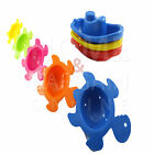 BATH TIME FUN SET KIDS CHILDREN BABIES COLORS SPLASH SHAPES ANIMALS TUBES SAFE