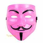 V for Vendetta Mask Guy Fawkes Anonymous Cosplay Masquerade Halloween Costume