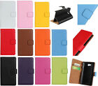 Luxury Multi Colors Leather Folio Flip Wallet Stand Case Cover For Smart Phones