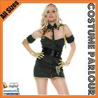 Womens Army Cadet Air Force Military Ladies Fancy Dress Costume All Sizes