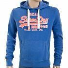 Superdry Mens Vintage Logo Drop Shadow Entry Hood - Dodger Blue Marl (#7612)