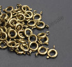 40pcs Gold & Silver Plated Copper Bronze  BOLT RING CLASPS - Choose - 6MM & 7MM