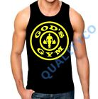 New Men's God's Gym Black Tank Top bodybuilding muscle future workout mma
