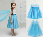 Disney FORZEN Elsa Princess TuTu Dress Skirts Girls Party Costume Clothes 1-6Y