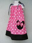 CSTMD Minnie Mouse Girls Pillowcase Dress Size 3T-9 Yrs Pink Red Lovely Gift