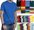 Men T-Shirts Short sleeve Tee Solid Colors Cotton Plain Adult Blank Tee S to 5XL image