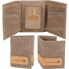 Carhartt Trifold Wallet Men's Pebble Trifold Genuine Leather Brown Black Wallets