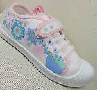 GIRLS Casual wear CANVAS WHITE FLOWER Floral PRINT VELCRO Pumps