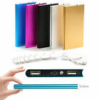 20000mAh Ultrathin Power Bank Backup Battery 2 USB Charger for Phone iPhone HTC