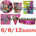 MINNIE MOUSE PLATES CUPS LOOT BAGS BUNTING TABLECOVER SERVIETTE PARTY SUPPLIES