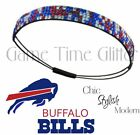 NWT Buffalo Bills Fan Team Color Womens Rhinestone Headbands Cute w/ Jersey