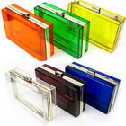 1PC New Women Girl Clear Acrylic Clutch Evening Bag Handbag Shoulder bag F23