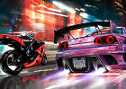 SPORTS CAR & MOTORBIKE WALL ART POSTER (A1 - A5 SIZES AVAILABLE)