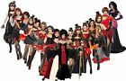 Ladies Vampiress Halloween Fancy Dress Costume Womens Vampire Fancy Dress Outfit