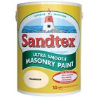 Sandtex Ultra Smooth Masonry Paint Magnolia 2.5 - 5 Litre - Next Day Delivery