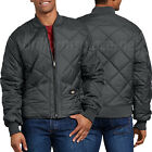 Dickies Jacket Mens Diamond Quilted Nylon Jackets 61242 knit lining Black Navy