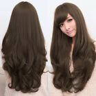 Women Girl Long Curly Wavy Full Wigs Party Cosplay Hair Costume Natural 5 Colors