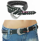 Ladies Western Diamante Crystal Buckle Cowgirl Cowboy RhineStone Belt