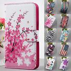 ZY Watercolor Flip Leather PU Wallet Stand case cover For Multi Phone Model
